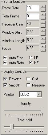 DIDSON控制面板